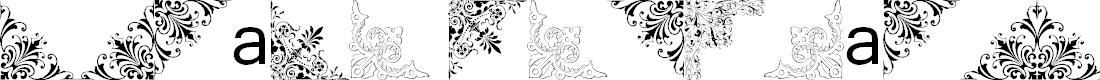 Preview image for Vintage Decorative Corners 16 Font
