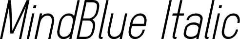 Preview image for MindBlue Italic