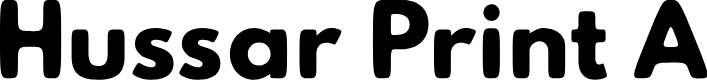 Preview image for Hussar Print A Font