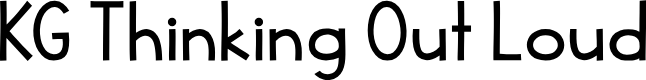 Preview image for KG Thinking Out Loud Font