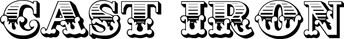 Preview image for Cast Iron Font