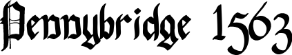 Preview image for Pennybridge 1563 Font