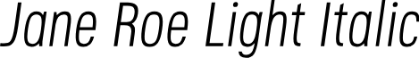 Jane Roe Light Italic