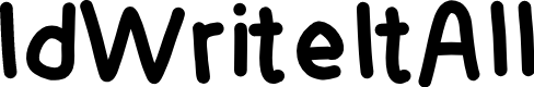 Preview image for IdWriteItAll Font