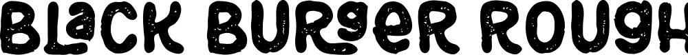 Preview image for Black Burger Rough Font