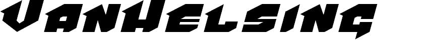 Preview image for VanHelsing Font