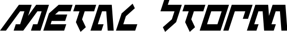 Metal Storm Condensed Italic