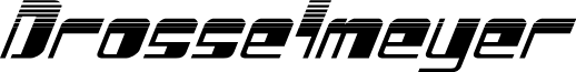 Drosselmeyer Halftone Italic