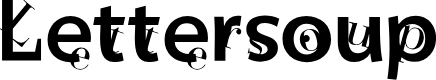 Preview image for Lettersoup Font