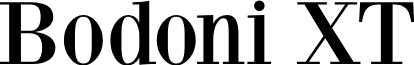 BodoniXT font
