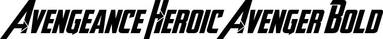 Preview image for Avengeance Heroic Avenger Bold
