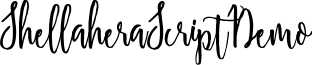 ShellaheraScriptDemo font