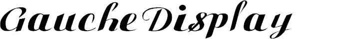 Preview image for Gauche Display Font
