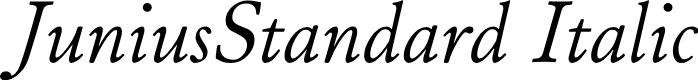 Preview image for JuniusStandard Italic