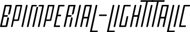 BPimperial-LightItalic