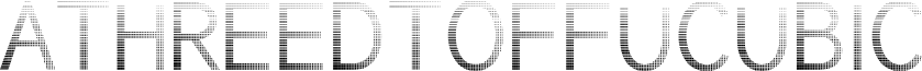ATHREEDTOFFUCUBIC