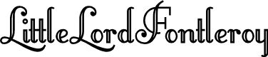 Preview image for LittleLordFontleroy Font