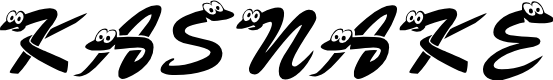 Preview image for KASnake Font