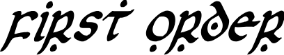 Preview image for First Order Condensed Italic