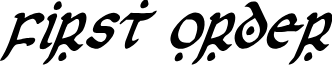First Order Condensed Italic