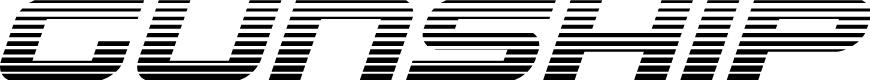 Preview image for Gunship Gradient Italic Italic