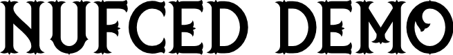 Preview image for nufced DEMO Font