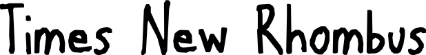 Preview image for Times New Rhombus Font