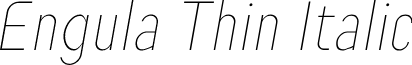 Engula Thin Italic