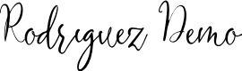 Preview image for Rodriguez Demo Font