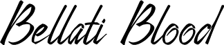 Bellati Blood font