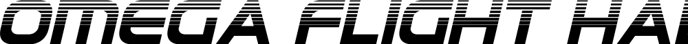 Omega Flight Halftone Italic