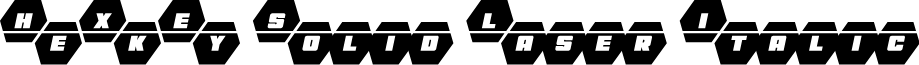 HeXkEy Solid Laser Italic