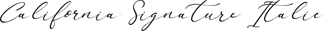 California Signature Italic
