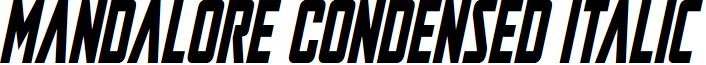 Mandalore Condensed Italic