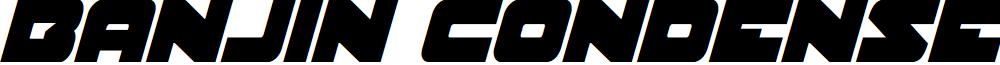 Banjin Condensed Italic