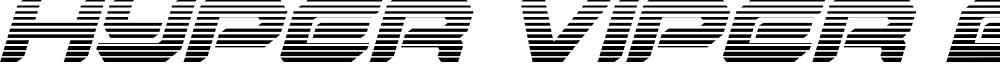 Hyper Viper Gradient Italic