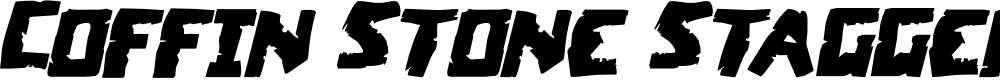 Preview image for Coffin Stone Staggered Italic
