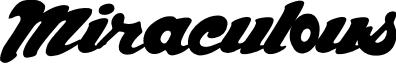 Miraculous font
