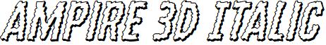 Ampire 3D Italic