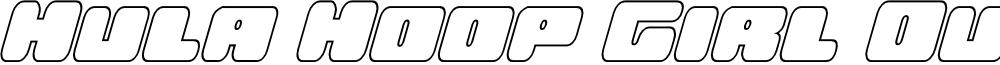 Hula Hoop Girl Outline Italic