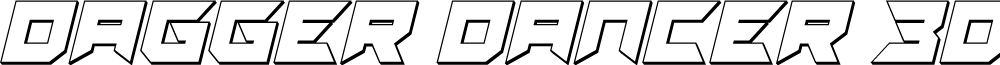 Dagger Dancer 3D Italic