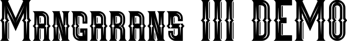 Preview image for Mangarans III DEMO Font
