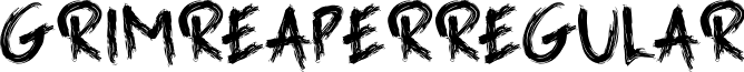GrimReaperRegular font