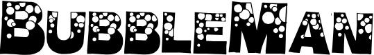 Preview image for BubbleMan Font