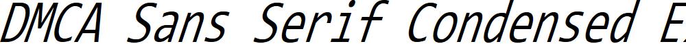 DMCA Sans Serif Condensed Extralight Italic