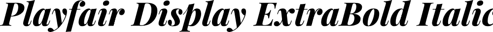 Playfair Display ExtraBold Italic