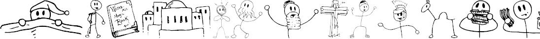 Preview image for Risus LCB Kringlebats Font
