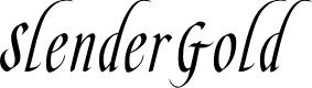 Preview image for SlenderGoldFLF Font