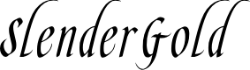 Preview image for SlenderGoldFLF Font