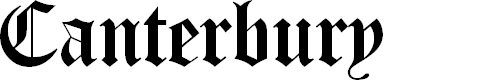 Preview image for Canterbury Regular Font